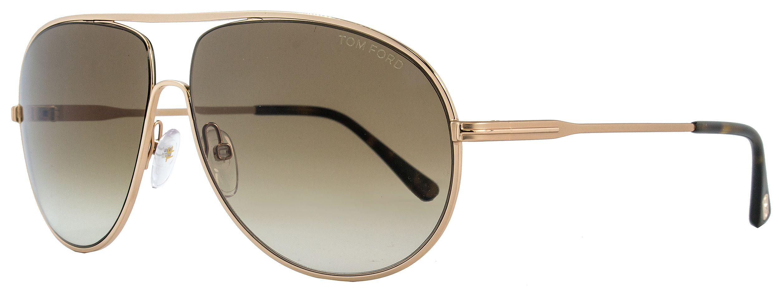 ed595673a9 Tom Ford Ft0450 28f Cliff Shiny Gold Aviator Sunglasses ✓ Ford is ...