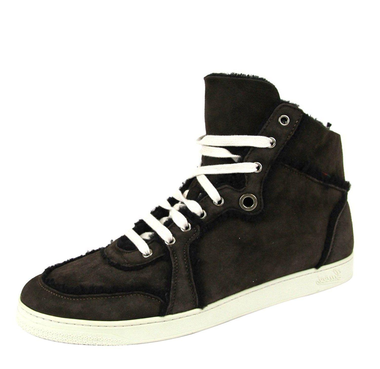 e86ad057a Lyst - Gucci Men's Navy Shearling High-top Sneaker 309408 4009 in ...