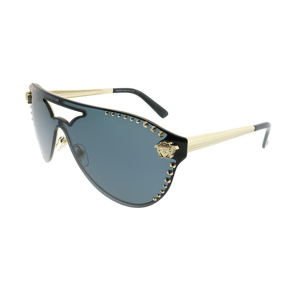 09026f59f74fc Versace. Women s Ve 2161 125287 Pale Gold Aviator Sunglasses