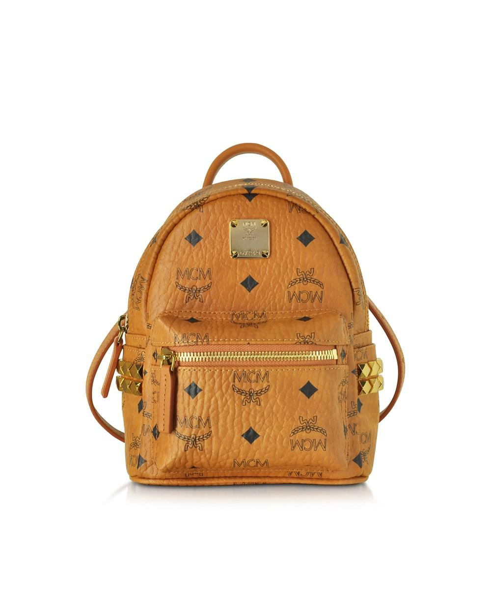 1d22d4e9867a Lyst - Mcm Women s Brown Leather Backpack in Brown