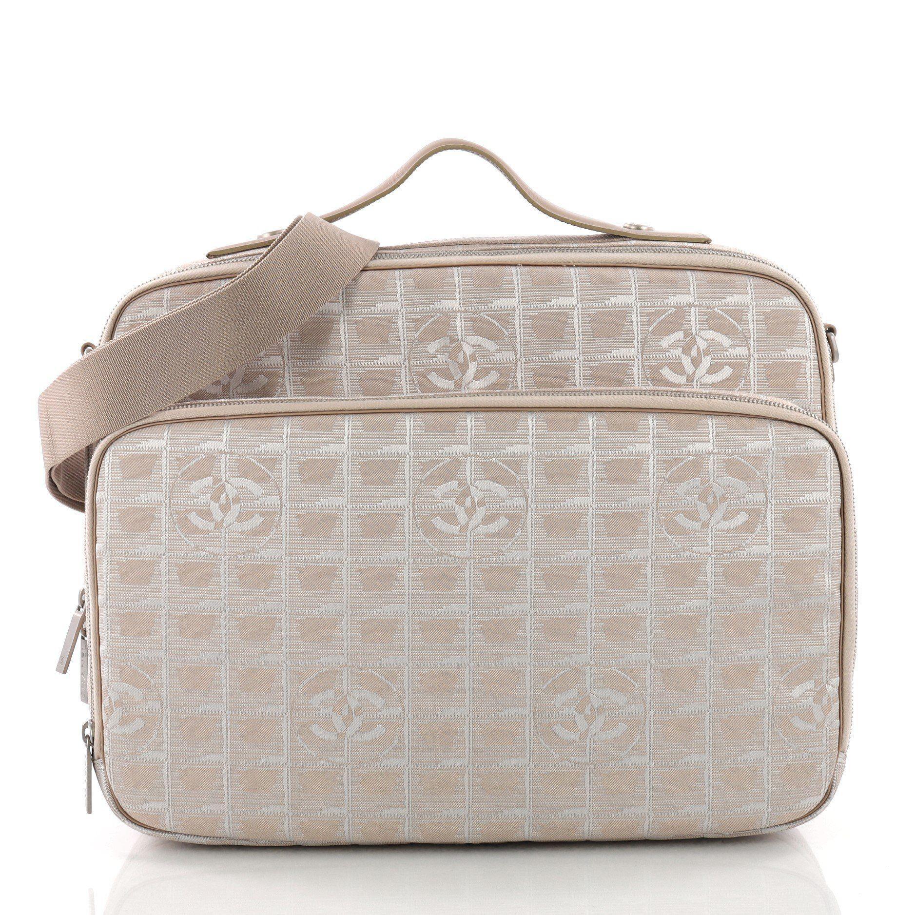 fa0b76820a30 Lyst - Chanel Pre Owned Travel Line Briefcase Nylon