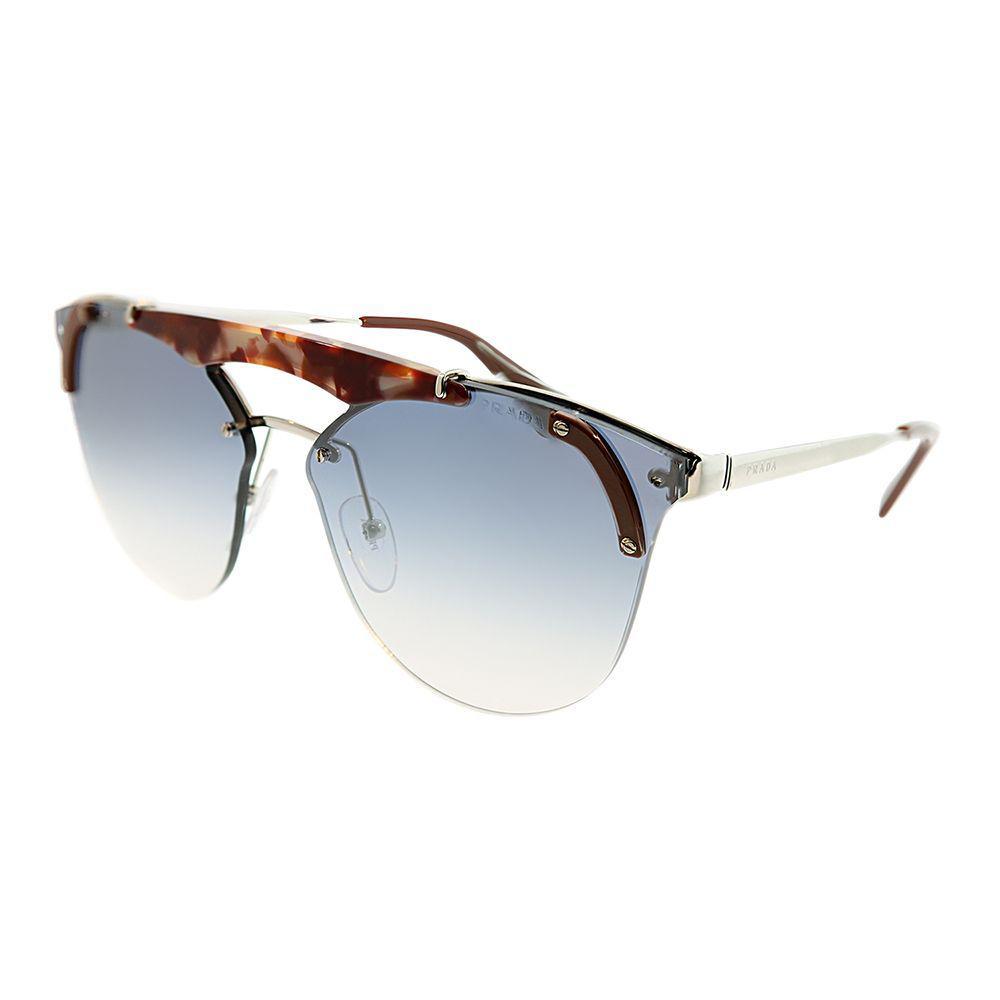 866aa0b3a1e Lyst - Prada Pr 53us C135r0 42mm Silver Pink Havana Round Sunglasses ...