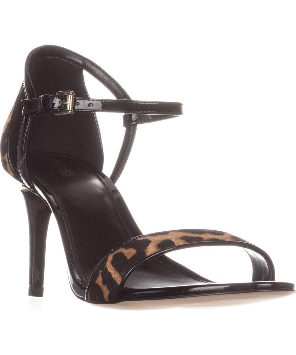 251bbc29df21 Lyst - Michael Kors Michael Simone Mid Sandal Ankle Strap Sandals ...