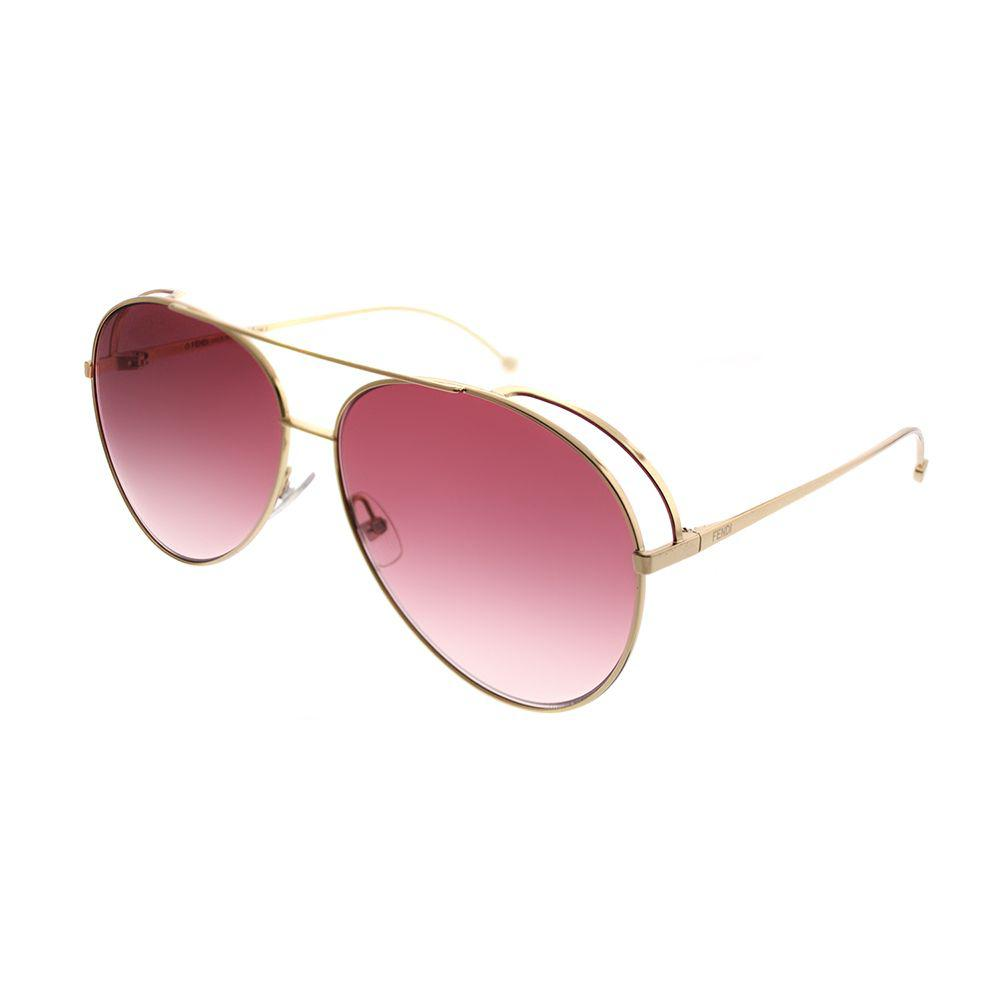 e696357df70 Fendi. Women s Run Away Ff 0286 000 3x Rose Gold Aviator Sunglasses
