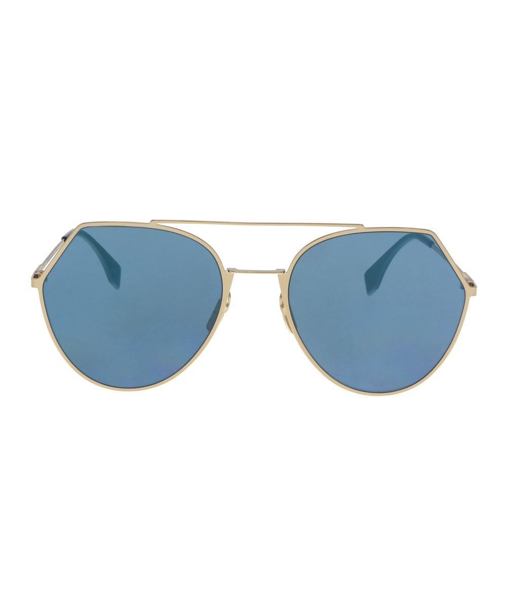 c6241706d8 Lyst - Fendi 0194 s 2a 0000 Rose Gold Aviator Sunglasses in Metallic
