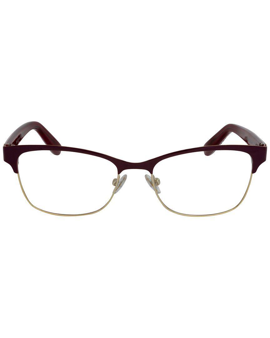 b587bbeffca Lyst - Jimmy Choo 99 Rectangular Women Eyeglasses Fuchsia in Brown