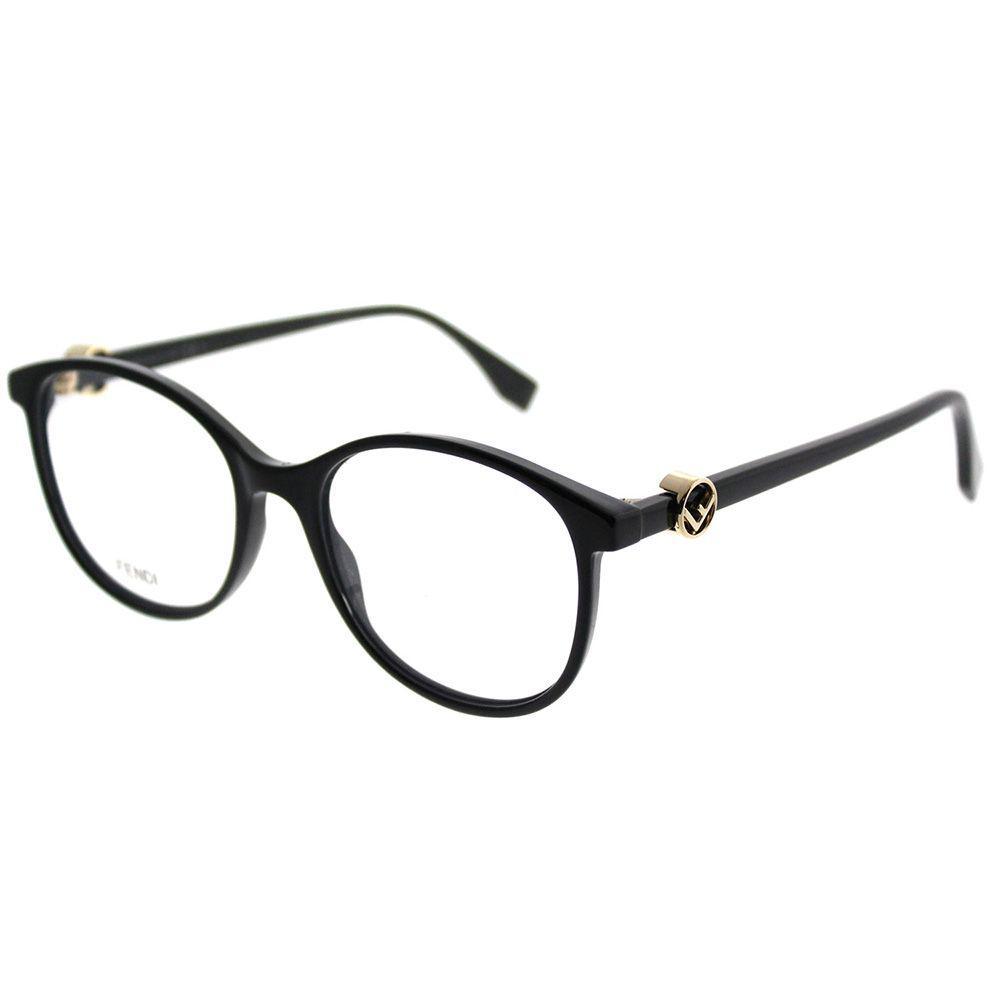 4474de2cbca Lyst - Fendi F Is Ff 0299 807 51mm Black Round Eyeglasses in Black