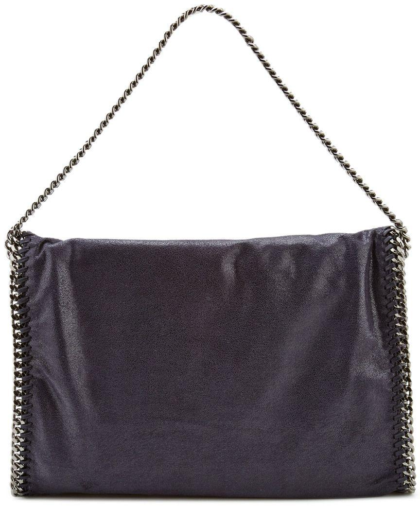 0dc7f2a0d240 Lyst - Stella Mccartney Falabella Shaggy Deer Fold Over Tote