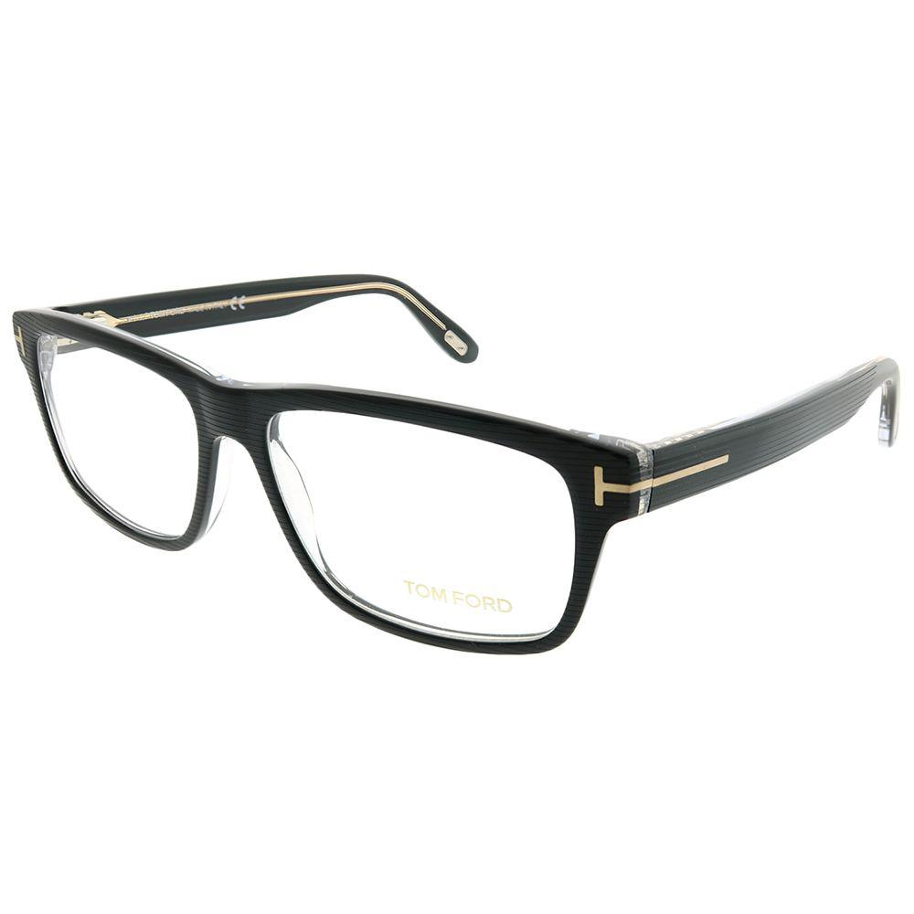 765bf4a778a Tom Ford - Ft 5320 005 Black Striped On Crystal Rectangle Eyeglasses -  Lyst. View fullscreen
