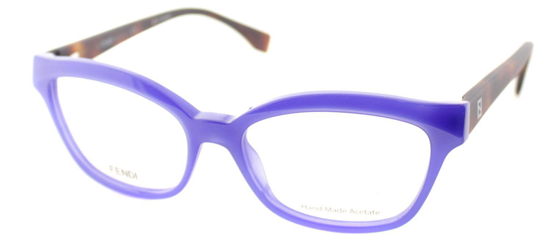 839cb401053 Lyst - Fendi Ff0046 Mhw 52mm Blue Cat-eye Eyeglasses in Blue