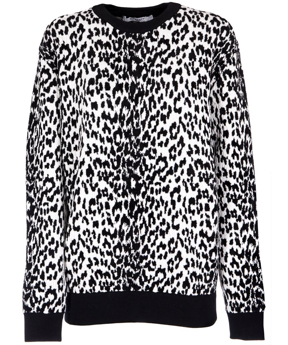 Lyst - Givenchy Women s White black Wool Sweater in White 7adde2d12