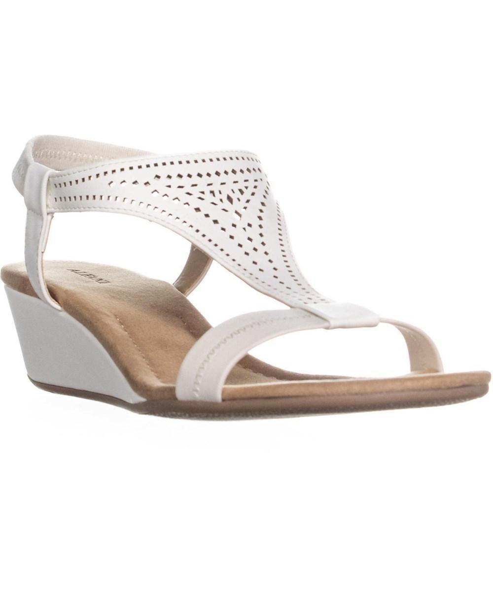 6ef276838a60 Lyst - Alfani A35 Vacanzaa2 Wedge Peep-toe Sandals