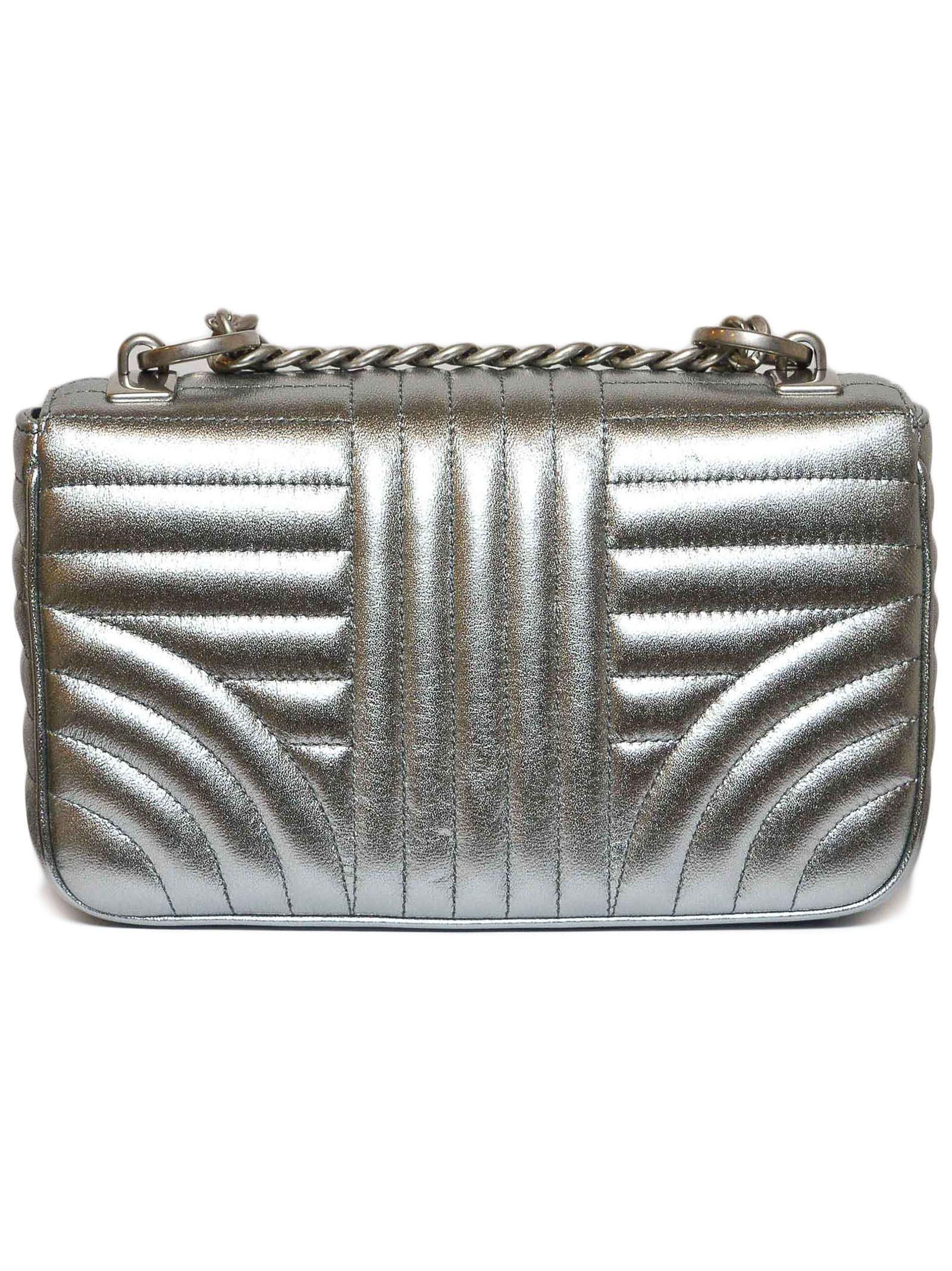 b53fb10cfe Lyst - Prada Women s Silver Leather Shoulder Bag in Metallic
