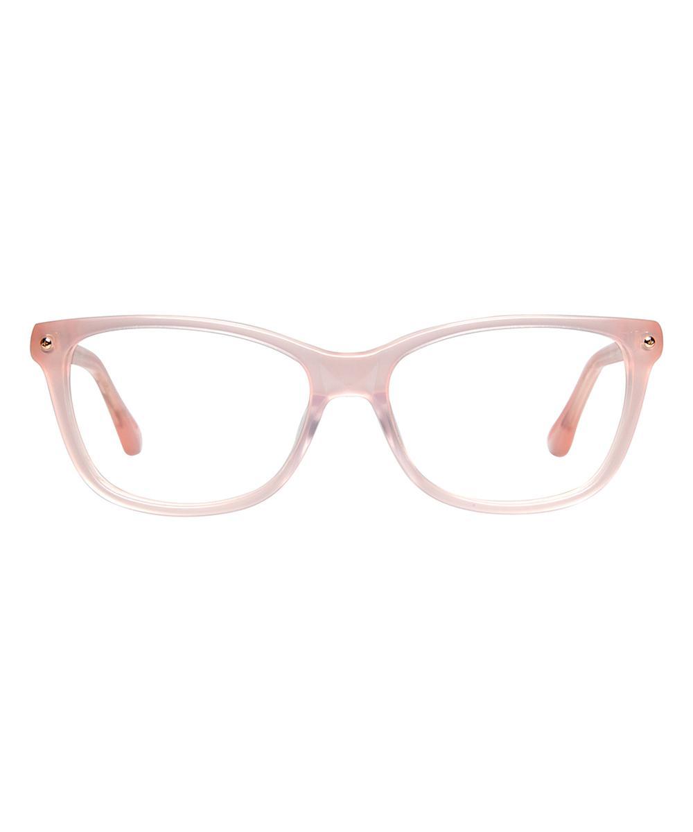 632ad7ec7da Lyst - Cynthia Rowley Blush Square Plastic Eyeglasses in Pink
