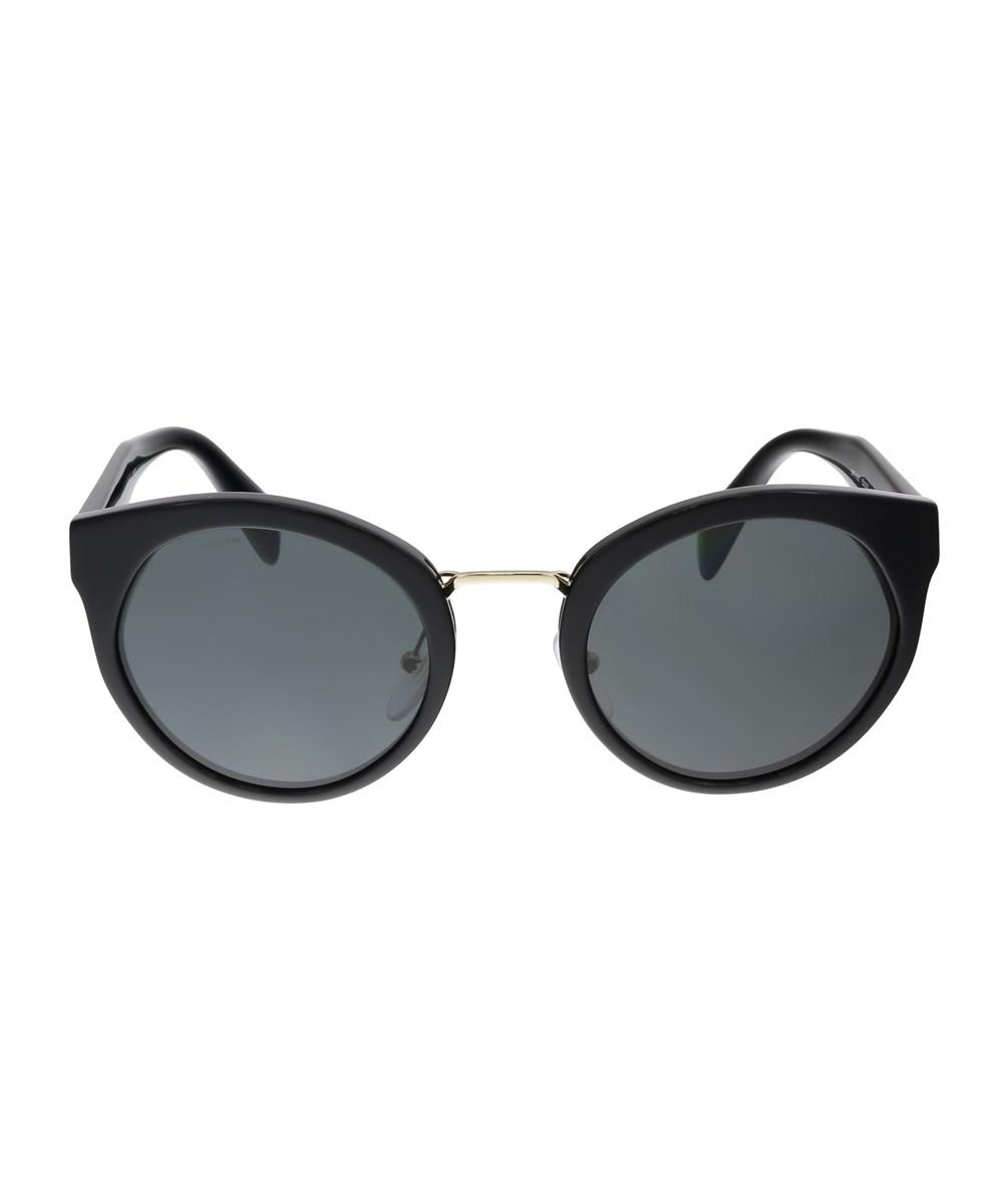 98846b8d5de Lyst - Prada Pr 05ts 1ab1a1 Round Black Sunglasses in Black