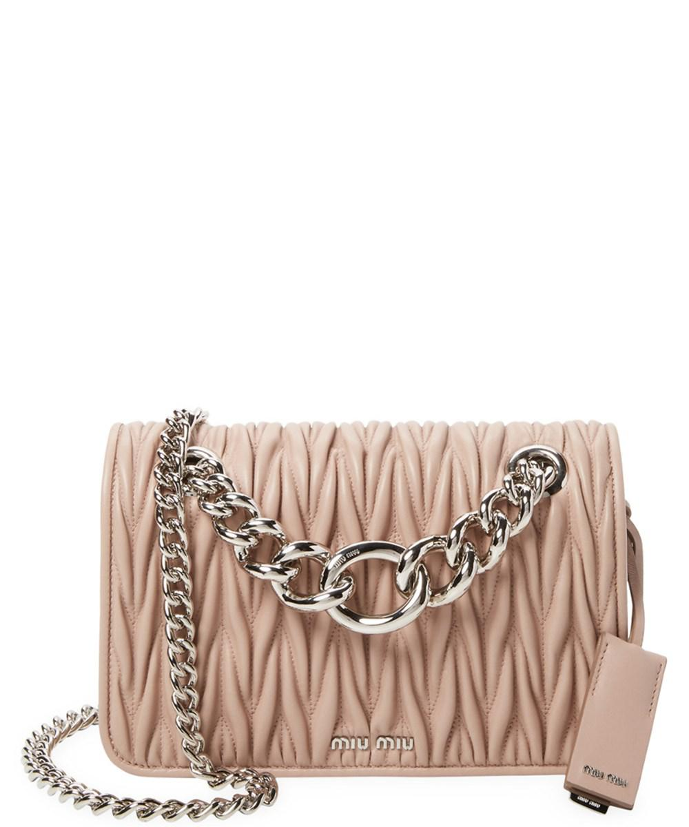 ac14074b105d Miu Miu. Women s Club Medium Matelasse Leather Crossbody