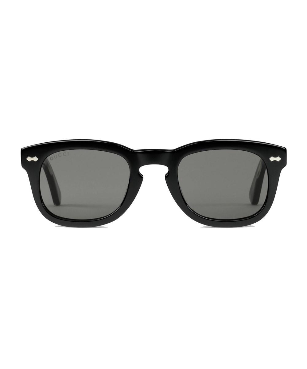 60a44ecc71 Lyst - Gucci Men s Black Acetate Sunglasses in Black