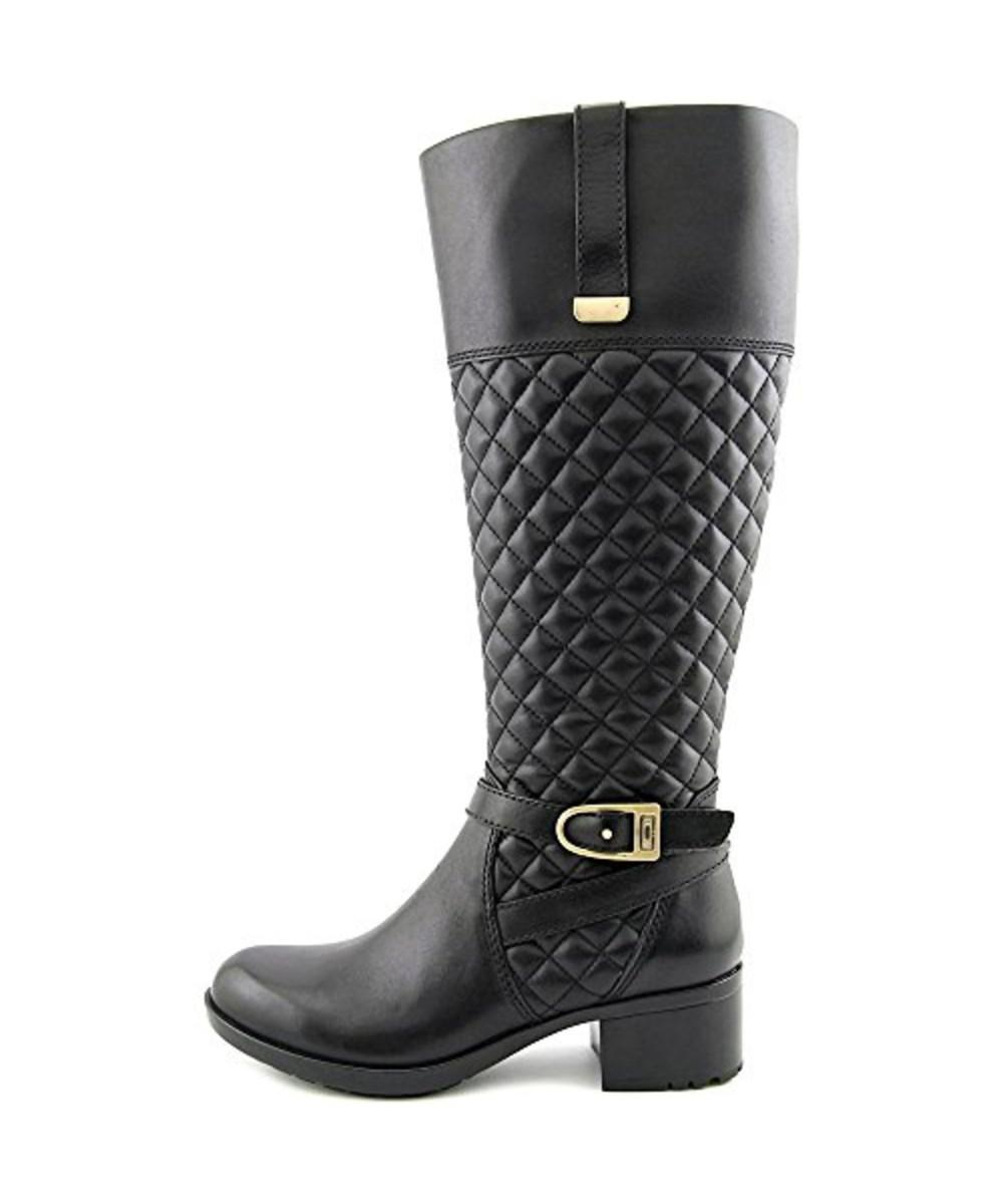eef8279e69ff Lyst - Bandolino Women s Blushe Wide Calf Quilted Leather Knee High ...