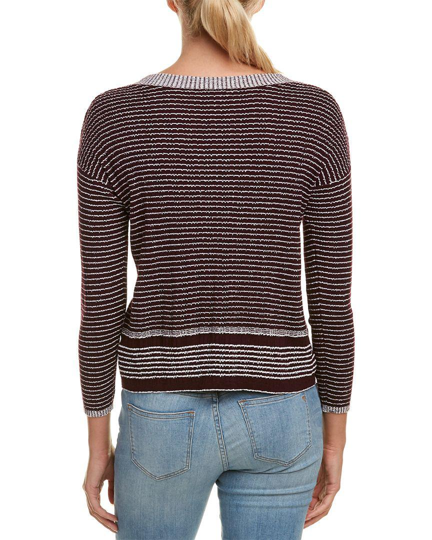 794f8f678f Lyst - James Perse Vintage Stripe Wool-blend Sweater in Purple - Save  30.35714285714286%