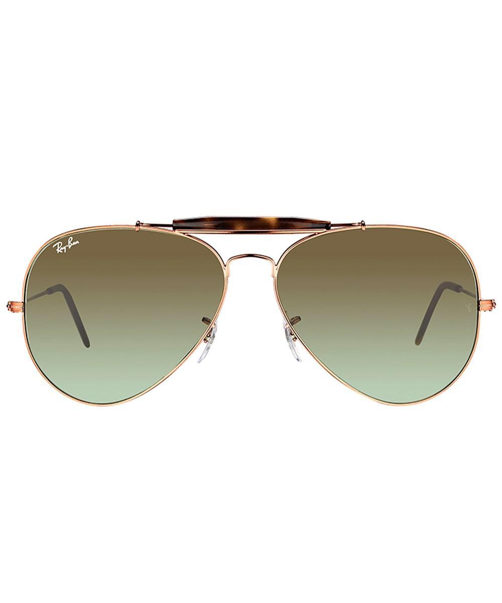 6d6c1ebb03 Lyst - Ray-Ban Rb3029 9002a6 62mm Outdoorsman Ii Shiny Medium Bronze  Aviator Sunglasses in Metallic for Men