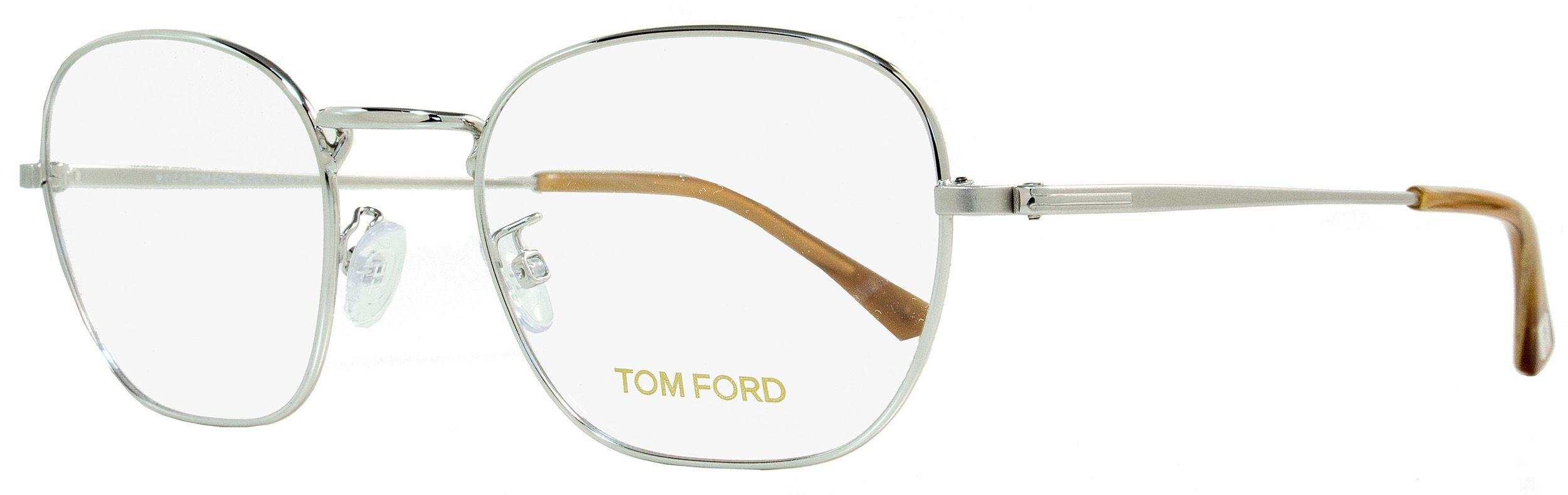 0aca05e3074 Lyst - Tom Ford Oval Eyeglasses Tf5335 018 Size  51mm Rhodium light ...