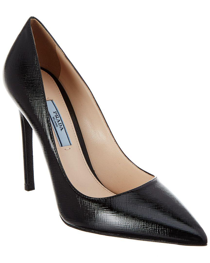 1e4f8ebce0b6 Prada - Black 110 Saffiano Leather Pointy-toe Pump - Lyst. View fullscreen