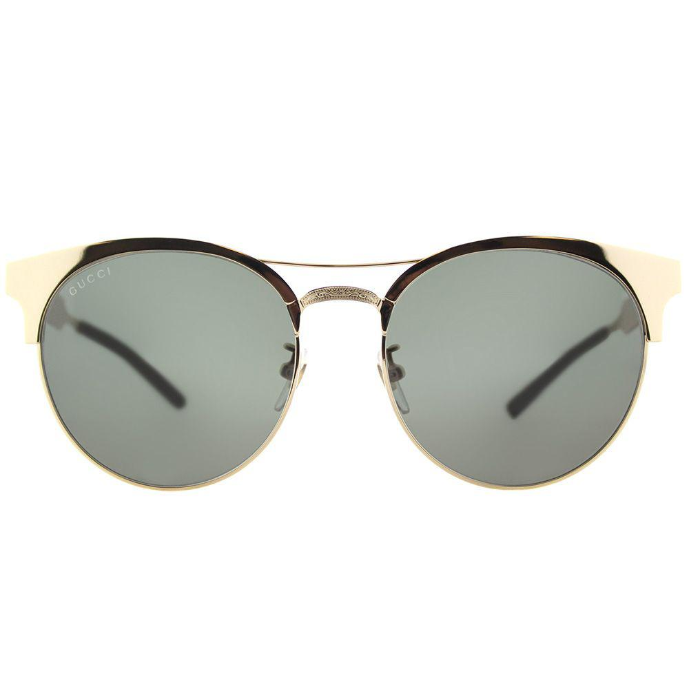 f90c48e0eb6 Gucci - Multicolor Gg 0075s 003 Gold Round Sunglasses - Lyst. View  fullscreen