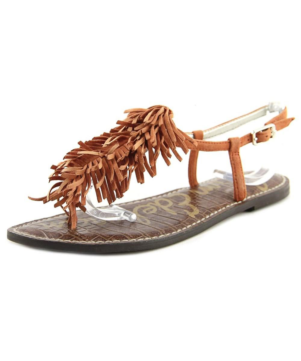 03c9171d8c14 Lyst - Sam Edelman Gela Open-toe Suede Slingback Sandal in Orange