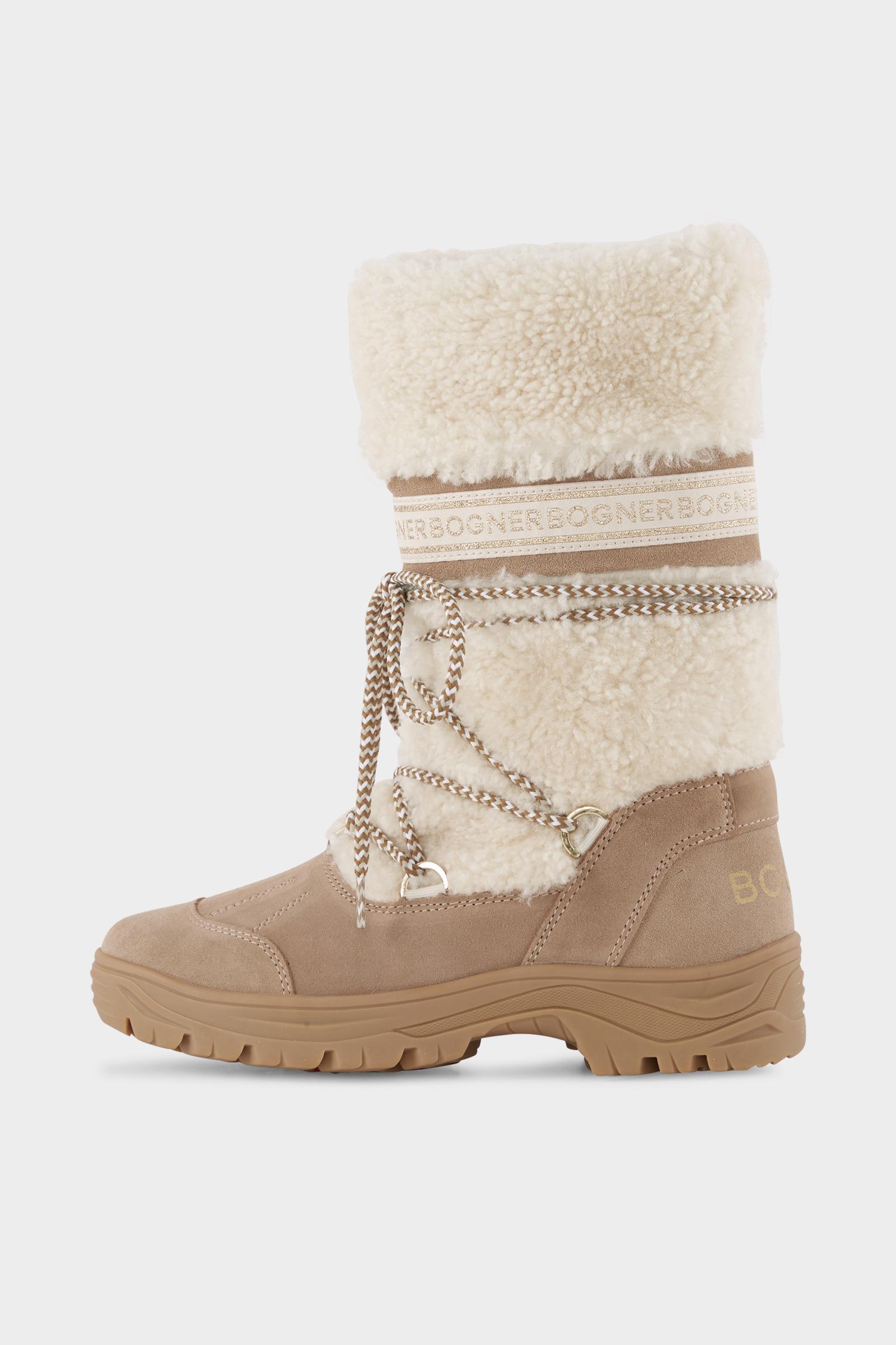 Bogner Suede Alta Badia Boots In Beige Off White In Natural Lyst