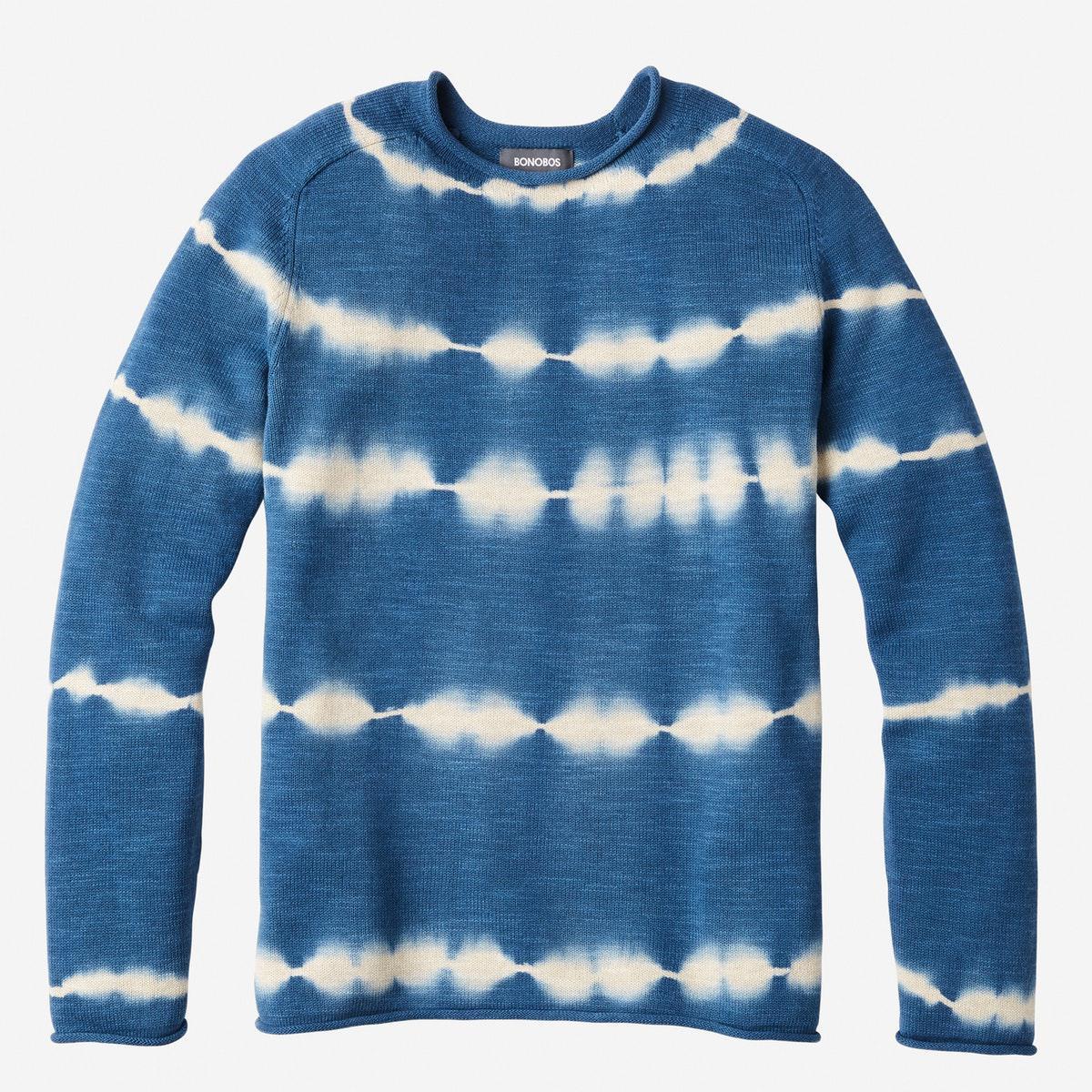 28819b85c609 Lyst - Bonobos Cotton Linen Roll Neck Sweater in Blue for Men