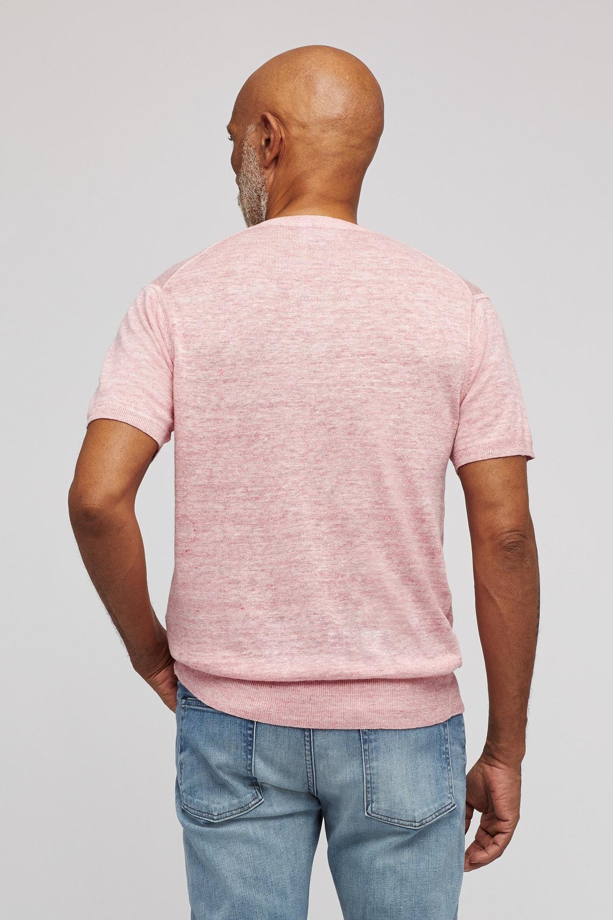 a7ecc616 Bonobos - Pink Short Sleeve Linen Henley for Men - Lyst. View fullscreen