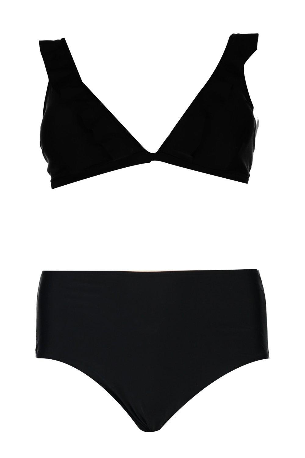 5928484f5c1 ... Frill Trim High Waist Bikini - Lyst. View fullscreen