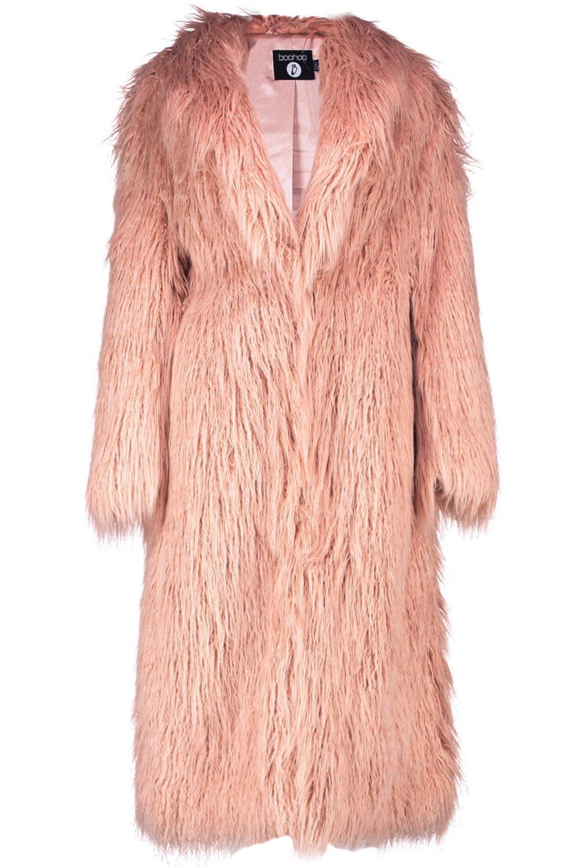 f1bb89787f42a Boohoo - Pink Boutique Mongolian Maxi Faux Fur Coat - Lyst. View fullscreen