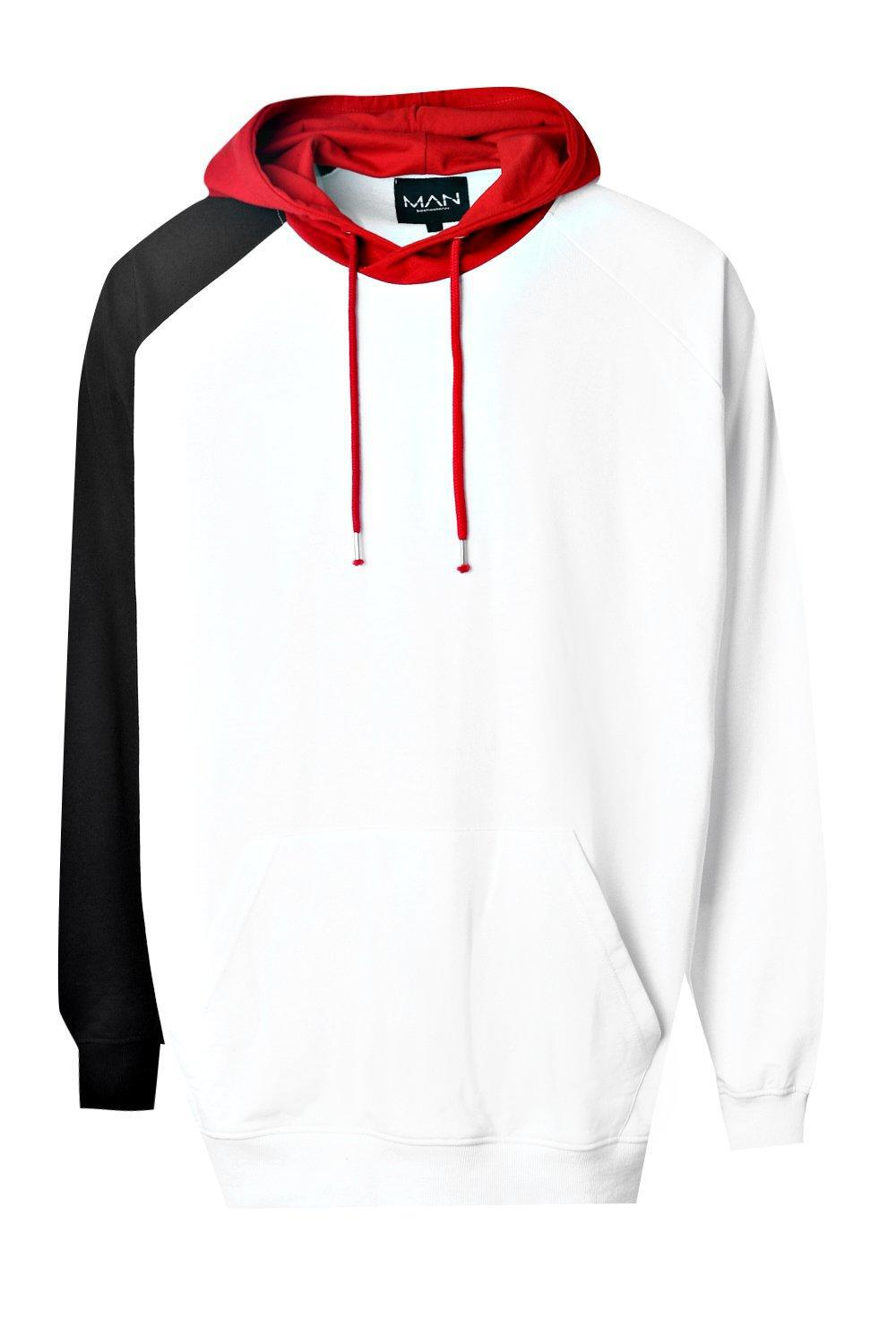 82a8f27e862a Boohoo Extreme Oversized Colour Block Hoodie in White for Men - Lyst