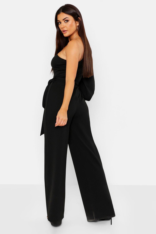 HTOOHTOOH Womens Short Sleeve V Neck Long Romper Side Slit Jumpsuit Plus Size