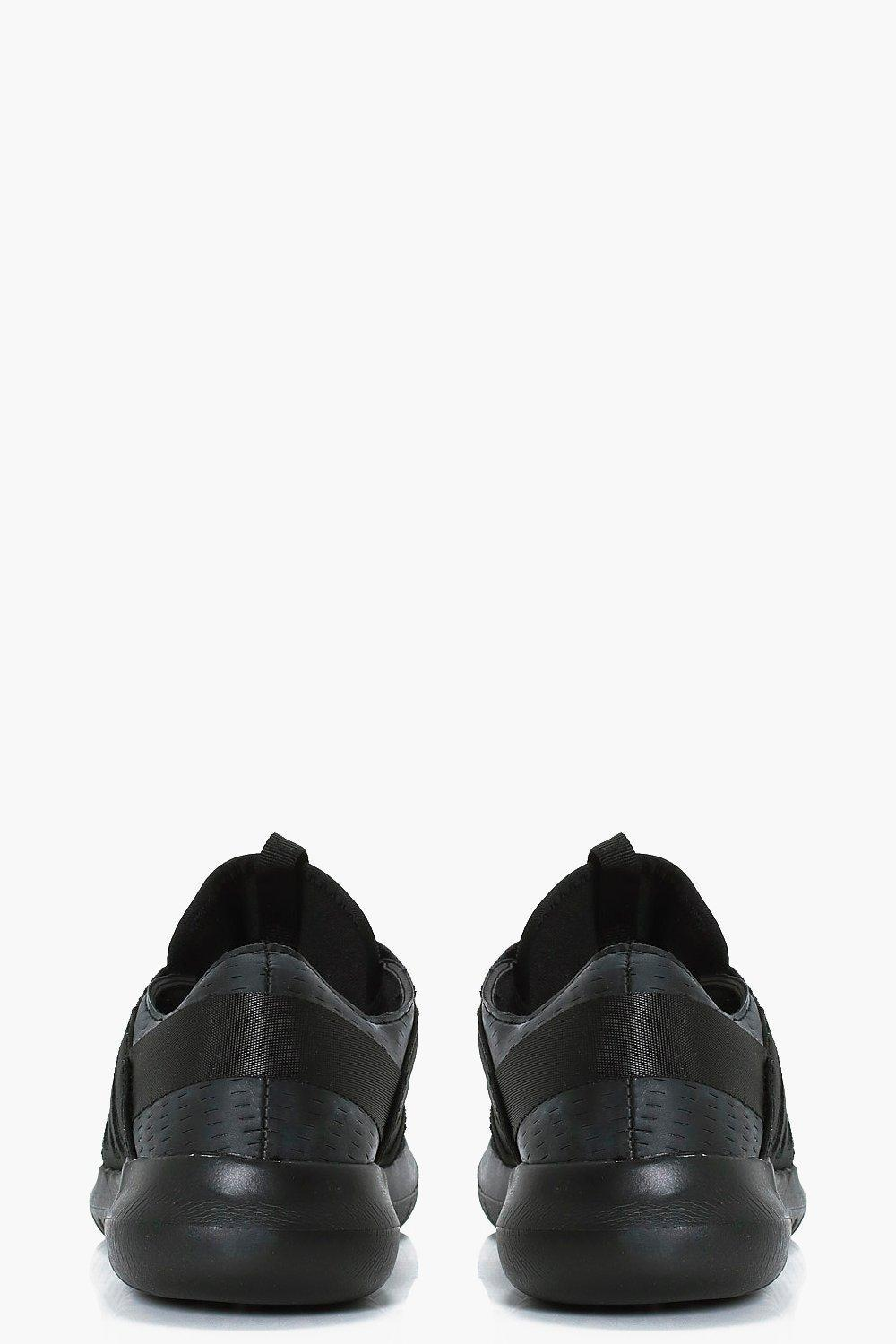 Boohoo Imogen Lace Up Sports Trainer in Black for Men