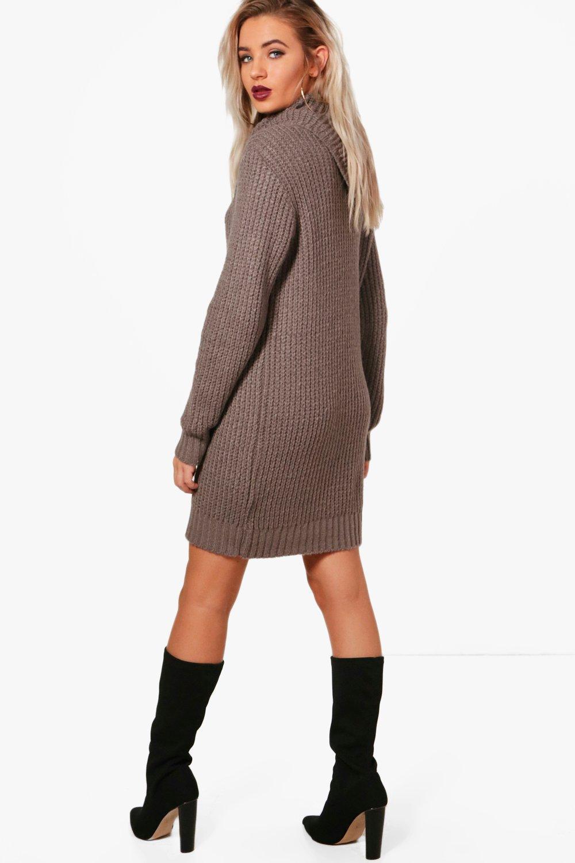 214ff519ba7 Boohoo. Women s Oversized Soft Knit Cowl Neck Sweater Dress