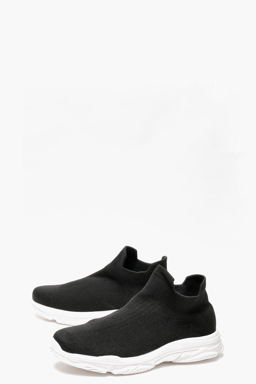 Boohoo Sock Trainers in Black