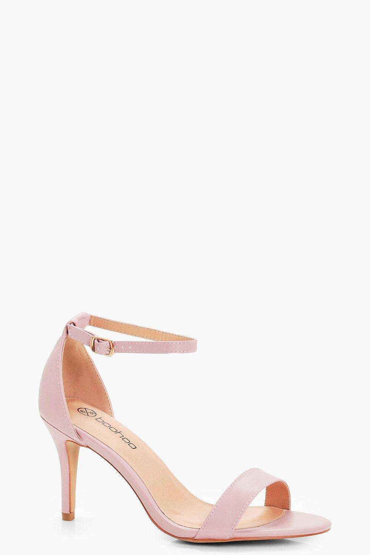 9567339c84c Lyst - Boohoo Lois Low Heel Two Part Sandal in Pink