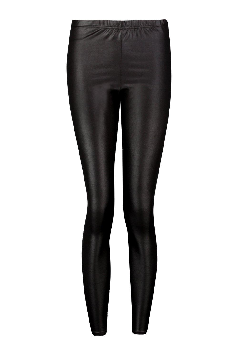 dbd85c0a8391 Boohoo - Black Wet Look Leggings - Lyst. View fullscreen