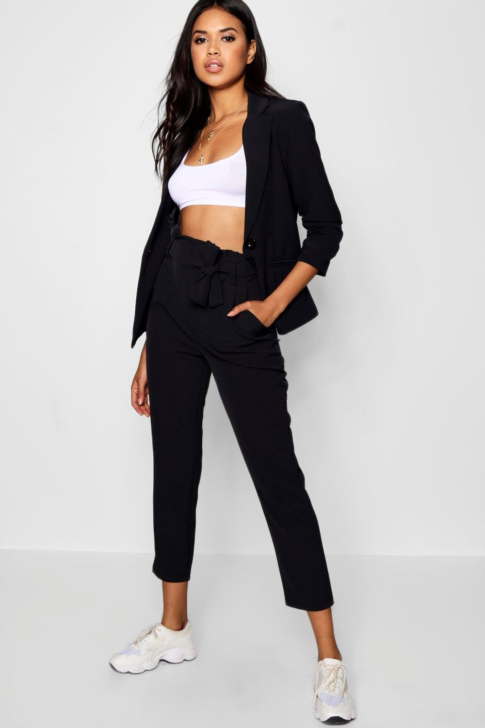 89c8c1674c0f Boohoo Tailored Tapered Trouser in Black - Lyst