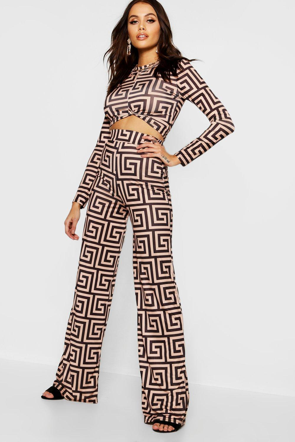 a64d3c2cedf3c Lyst - Boohoo Bold Geo Print Tailored Co-ord Pants