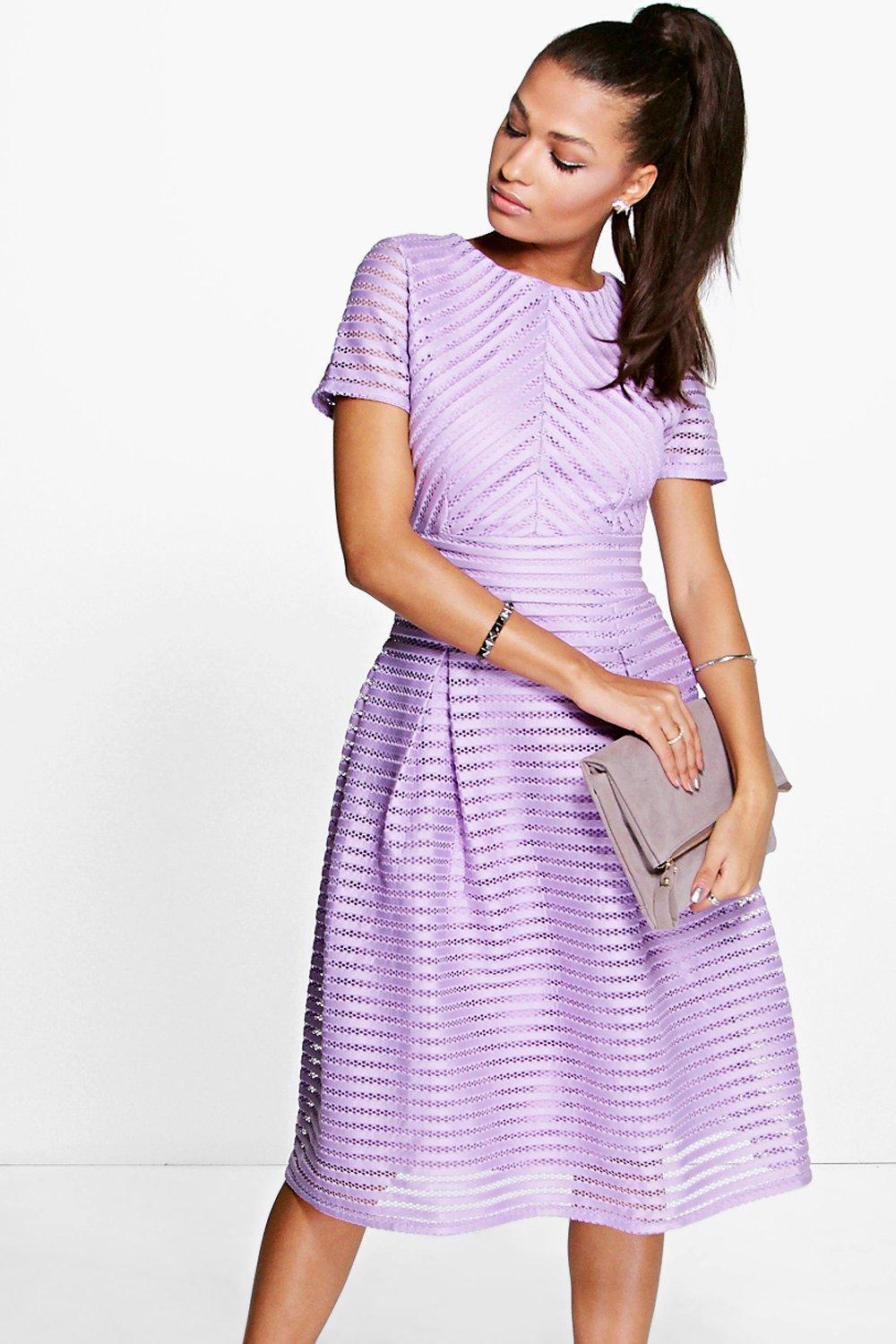 ef3c0bab311 Boohoo Boutique Full Skirted Prom Midi Dress in Purple - Save 21% - Lyst