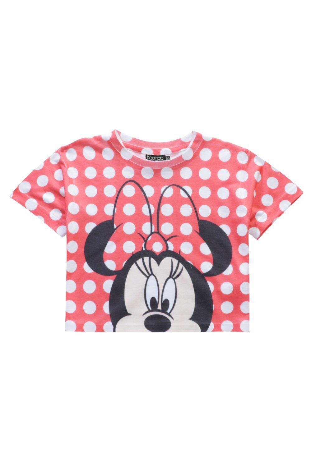 0d8e7ed96 Lyst - Boohoo Girls Minnie Dots Cropped Tee in Red