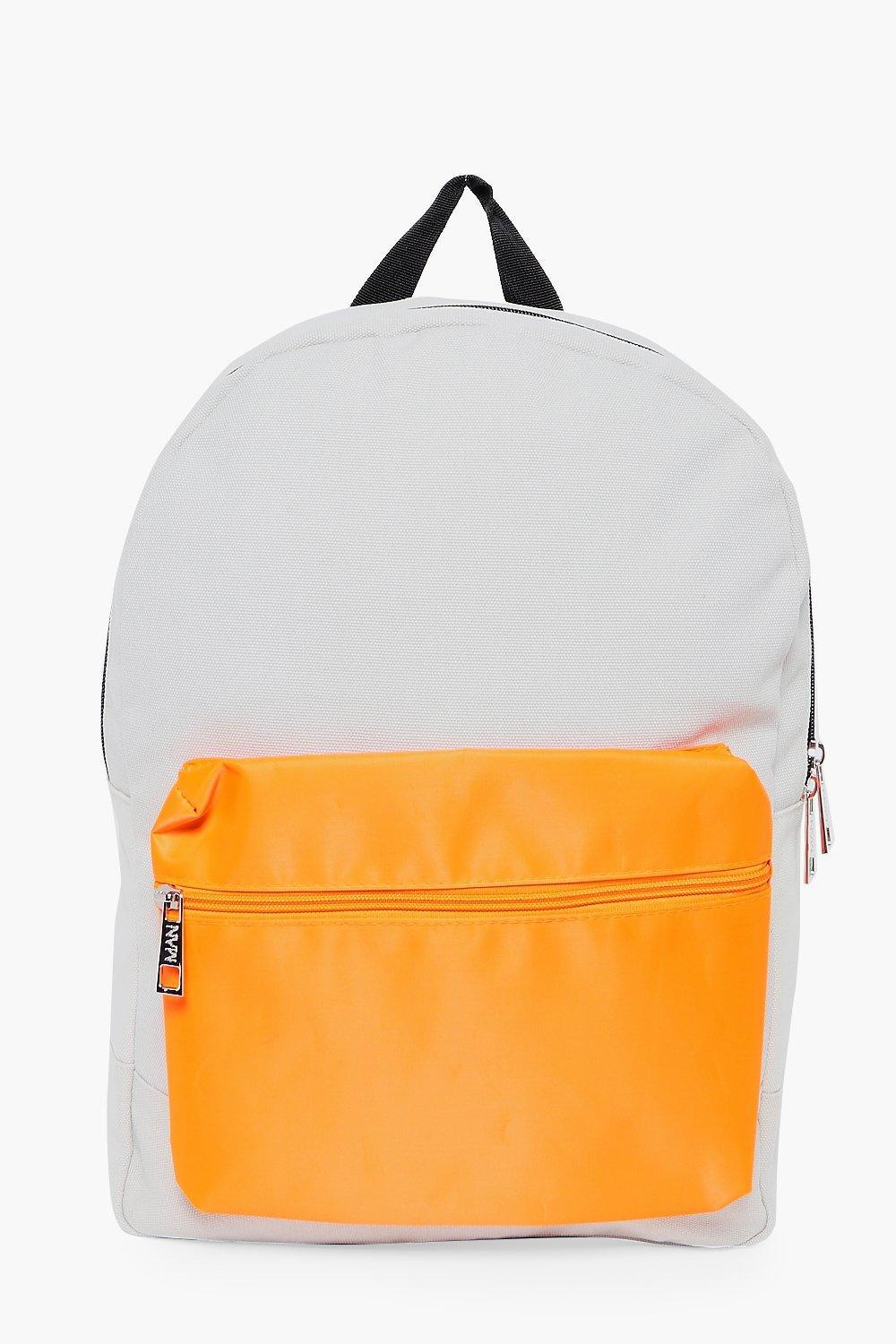 Boohoo Synthetic Nylon Backpack With Contrast Pocket in Silver (Metallic) for Men