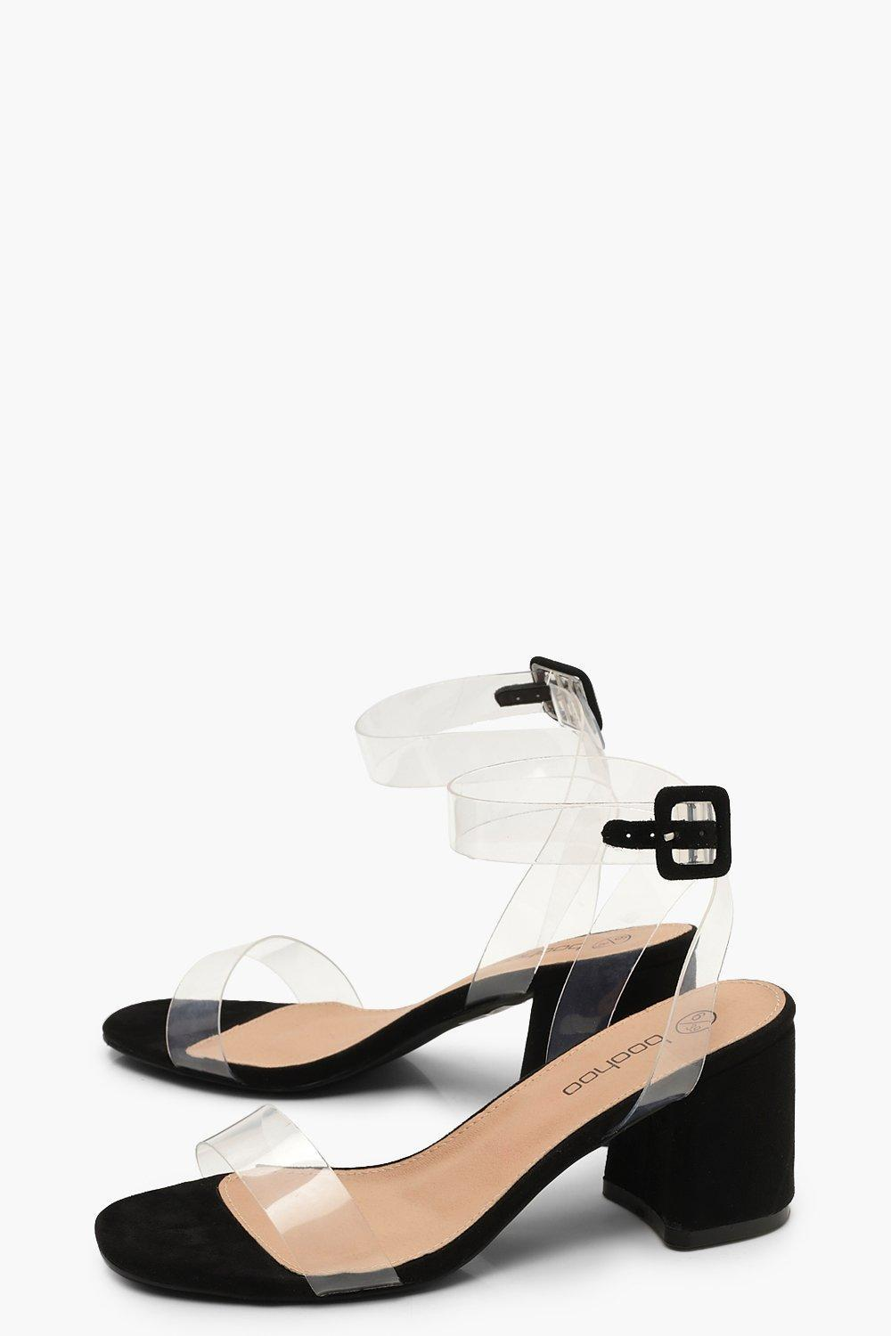 a603705e03d3 ... Extra Wide Fit Clear Strap 2 Part Heels - Lyst. View fullscreen