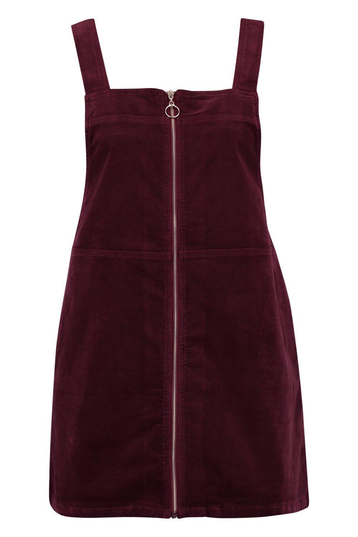 764841af17e8 Boohoo - Purple Plus O Ring Zip Cord Pinafore Dress - Lyst. View fullscreen