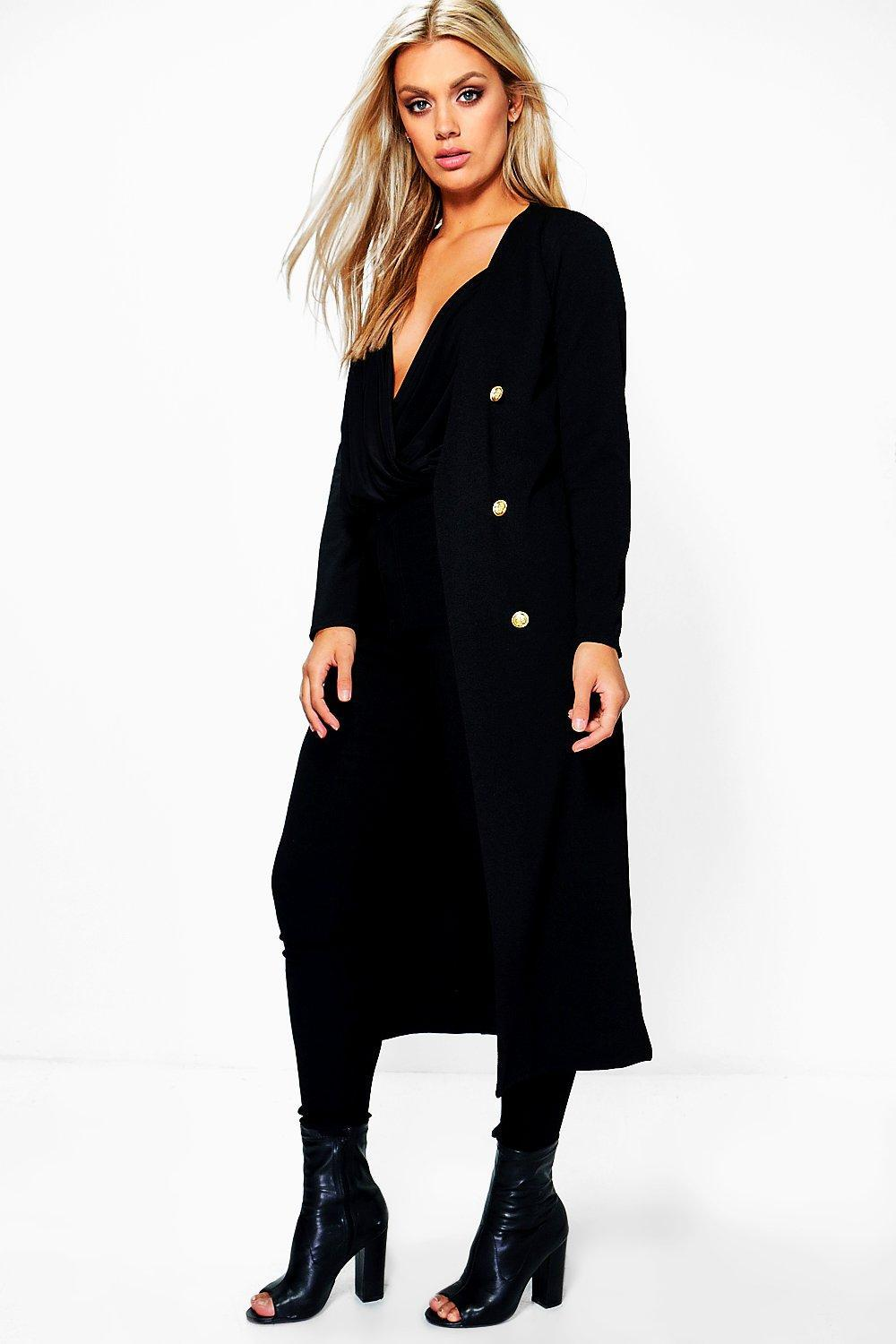 Boohoo Plus Check Duster Jacket Explore Cheap Top Quality Wholesale Price Excellent Cheap Price 7X4SmnMb0T