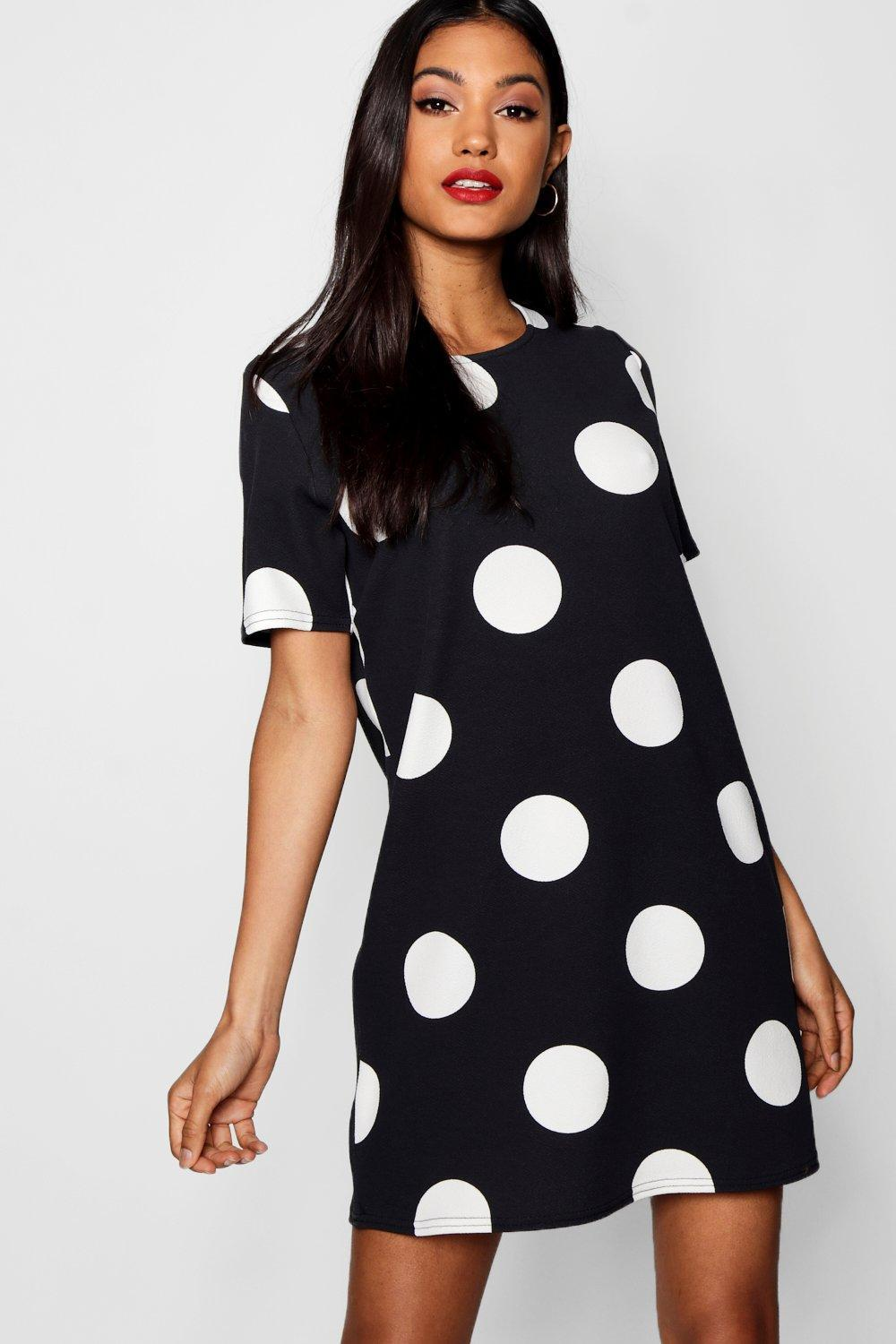 Boohoo Large Polka Dot Shift Dress Discount The Cheapest Cheap Sale Many Kinds Of Clearance Manchester Great Sale Pick A Best Official Site Cheap Price Ky53eqyGBS