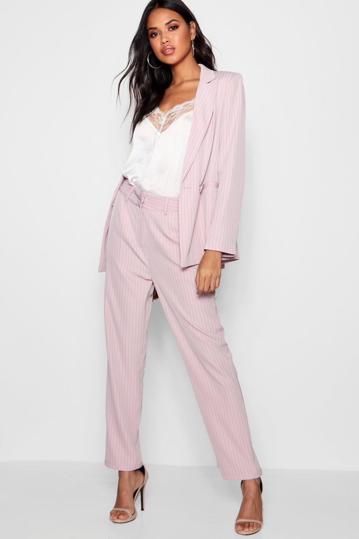 8a9b3a4d9da5 Lyst - Boohoo Stripe Tailored Suit Trouser in Pink